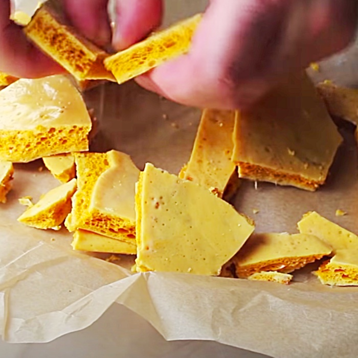 How To Make Old Fashioned Honeycomb Candy Recipe - Easy Candy Recipe