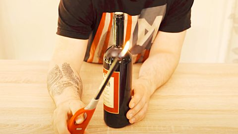 How To Open A Bottle Of Wine Without A Corkscrew | DIY Joy Projects and Crafts Ideas