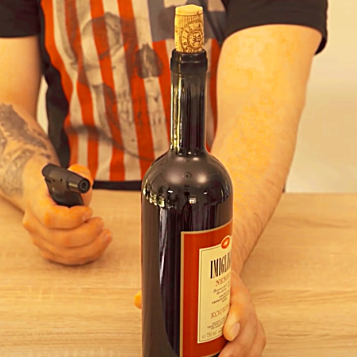 How To Open A Bottle Of Wine Without A Corkscrew - Easy Wine Bottle Hacks - How To Open Wine