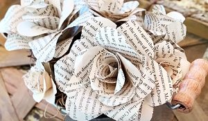 How To Make Flowers Out Of Book Pages