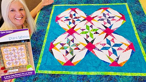 Stars Within Paper Piecing Quilt   DIY Joy Projects and Crafts Ideas