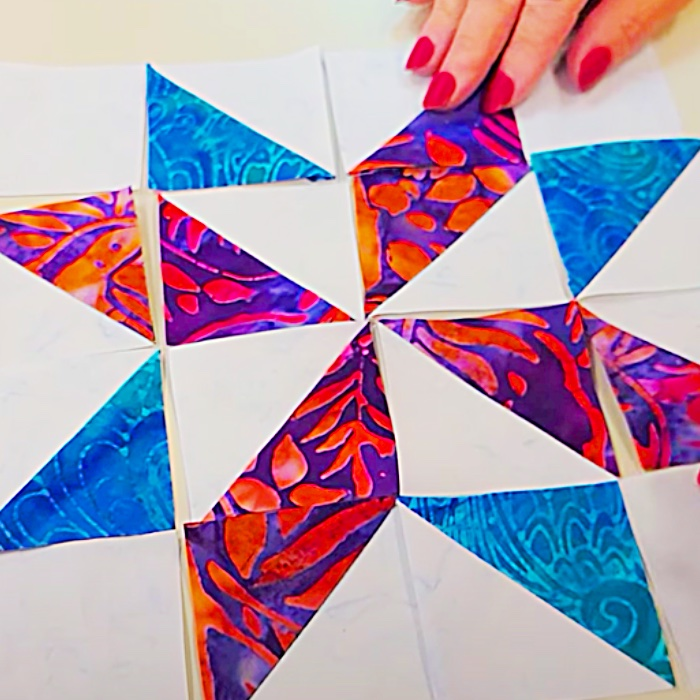 How To Do English Paper Piecing - Easy Quilt Project - Stars Within Paper Piecing Quilt