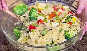 Paula Deen's Veggie Pasta Salad Recipe