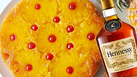 Hennessy Pineapple Upside-Down Cake Recipe | DIY Joy Projects and Crafts Ideas