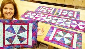 Make Windmill Placemats With Free Pattern