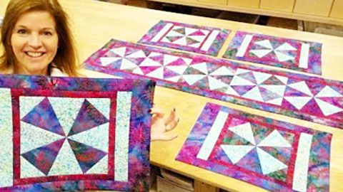 Make Windmill Placemats With Free Pattern | DIY Joy Projects and Crafts Ideas