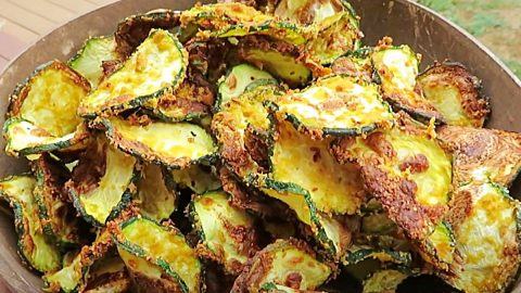 Air Fryer Zucchini Crisps Recipe   DIY Joy Projects and Crafts Ideas
